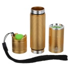 E-SMART Mini LED 1000lm 5-Mode Cold White Light Flashlight - Golden