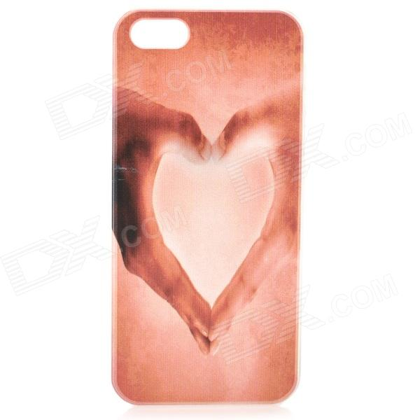 S-what Love Heart Style Protective Plastic Back Case for IPHONE 5 / 5S - Pink ipega i5056 waterproof protective case for iphone 5 5s 5c pink