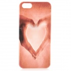 S-what Love Heart Style Protective Plastic Back Case for IPHONE 5 / 5S - Pink