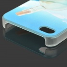 S-what Drift Bottle Style Protective Plastic Back Case for IPHONE 4 / 4S - Blue + Transparent