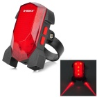Buy INBIKE Rechargeable Bicycle Safety Tail Warning 5-LED Red Laser 3-Mode Light - + Black