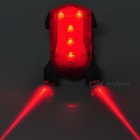 INBIKE Rechargeable Bicycle Safety Tail Warning 5-LED Red Laser 3-Mode Light - Red + Black