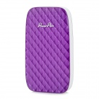POWERPLUS X801 Portable 8000mAh Power Bank for Samsung / IPHONE / Nokia - White + Purple