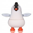 Netter Karikatur-Pinguin-Art USB 2.0 Flash Drive Festplatte - White + Black + Orange (4GB)