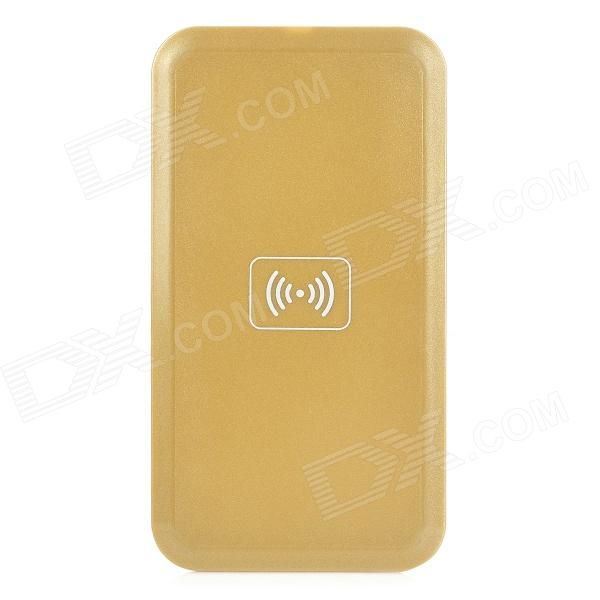 Q9 Mobile Phone Qi Standard Wireless Charger for Samsung / Nokia / IPHONE - Golden (5V)