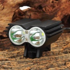 HASKY K2D 2-LED 4-Mode White Light Bicycle Lamp (8.4V)