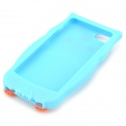 Cute Owl Style Protective Silicone Back Case for IPHONE 5 - Blue