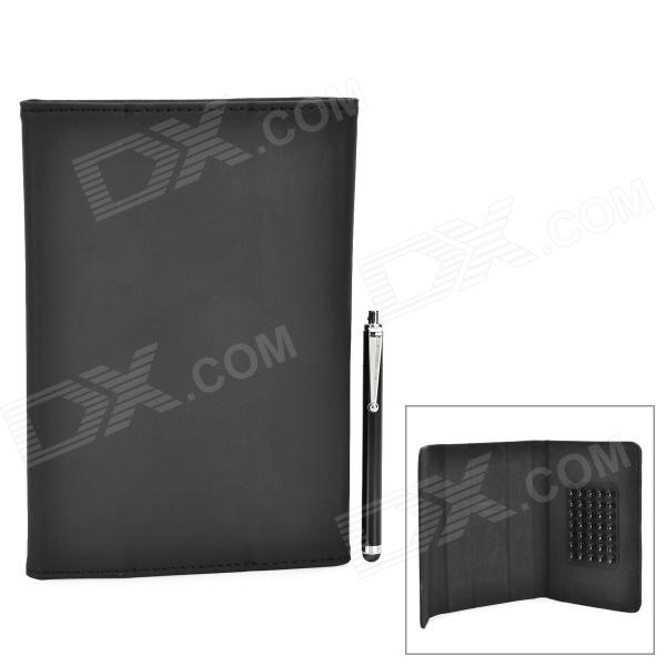 "7"" Protective PU Leather Holder Case w/ Stylus for Samsung T210 / T211 / P3100 / T2105"