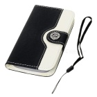 Mouse Grain Style Protective PU Leather Case for Samsung Galaxy S3 i9300 - Black + White