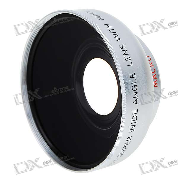 Sakar 43mm 0.45X Wide Angle Lens Filter SetLenses<br>Able to add 62mm UV or filter in the front - Comes with soft protective pouch and English user manual<br>