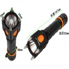 ZHISHUNJIA Y51 LED 1000lm 5-Mode Explosion-proof Flashlight - Black + Orange