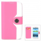Mouse Grain Style Protective PU Leather Case for Samsung Galaxy S3 i9300 - Pink + White