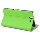 Protective PU Leather + ABS Case w/ Stylus Pen for Sony Xperia Z / L36h / C6603 - Green