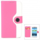 Protective PU Leather Case for Samsung Galaxy S3 i9300 - Deep Pink + White