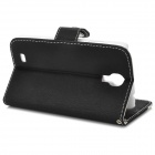 Stylish Protective PU Leather Case for Samsung Galaxy S4 i9500 - Black + White