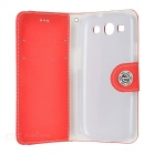 Mouse Grain Style Protective PU Leather Case for Samsung Galaxy S3 i9300 - Red + White