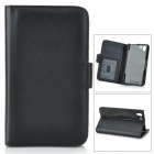 Protective PU Leather Case w/ Stylus Pen for Sony Xperia Z1 / Xperia i1 L39h - Black