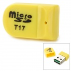 Multifunction Mini Micro USB 2.0 Card Reader - Orange (32GB Supported)