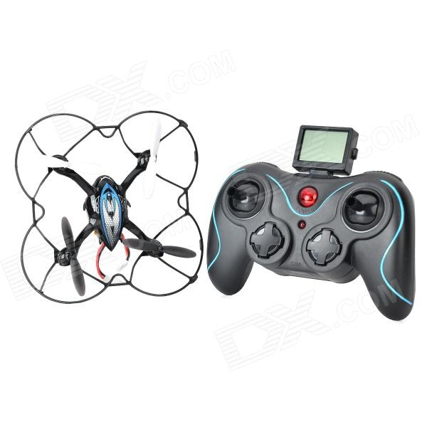 DFD F180 Rechargeable 2.4GHz Wireless 4-CH R/C Aircraft w/ Gyro - Black + Blue