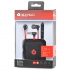 BIDENUO Universal In-Ear Earphones w/ Microphone for HTC / IPHONE / Samsung - Red + Black