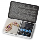 FLY Techology DP-01B 1.9'' LCD Digital Jewelry Scale  - Black (200g/0.01g)