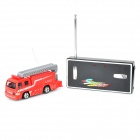 WLtoys 5020 Rechargeable 1:64 Miini 4-CH R/C Bus w/ Remote Controller - Red + Grey