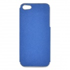 ZZ001 Protective Hard PU Leather + PC Case for IPHONE 5 / 5s - Blue + Silver