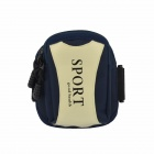 Sport Double Layer Water-proof Arm Bag - Dark Blue