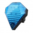 9-Mode White Light + Red Laser Bicycle Taillight - Blue + Black