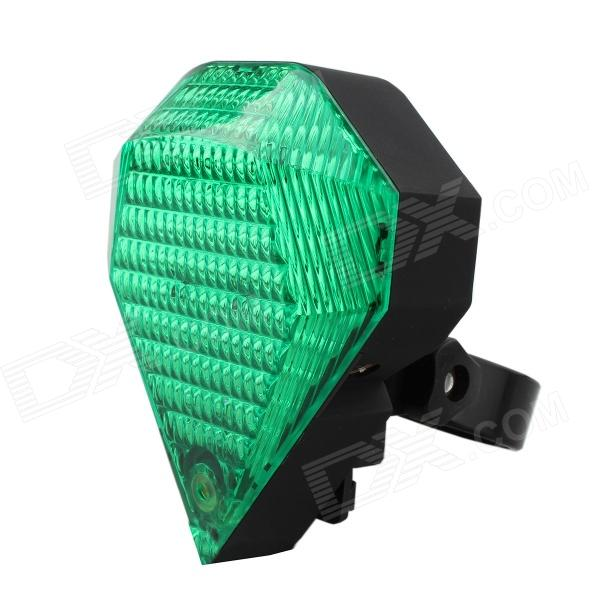 9-Mode Green Light Bicycle Laser Taillight - Green + Black