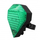 9-Mode LED White + Red Laser Bicycle Taillight - Green + Black
