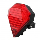 9-Mode LED White + Red Laser Bicycle Taillight - Red + Black