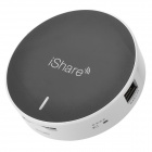 Portable 5200mAh Power Bank Wi-Fi Router w/ SD / USB - Black + White