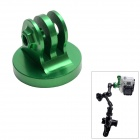 "High Precision CNC Aluminum Alloy 1/4"" Tripod Adapter Mount for GoPro Hero3+/Hero3/Hero2 - Green"