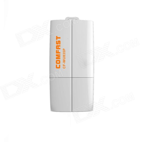 Comfast CF-WU835P 2.4GHz 802.11b/g/n 300Mbps USB 2.0 Wireless Wi-Fi Network Adapter - White
