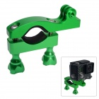Fat Cat High Precision CNC Aluminum Fast Bike Mount Handle Bar for Gopro Hero 4/3+/3/2/1/SJ4000 - Green