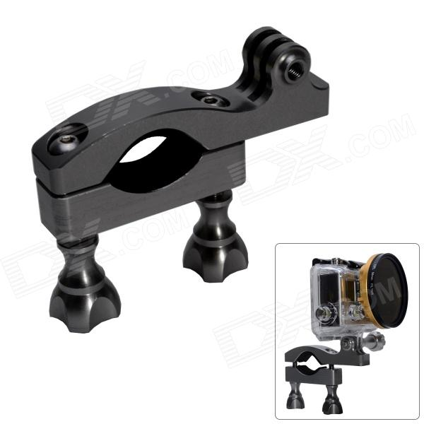 Fat Cat High Precision CNC Aluminum Fast Bike Mount Handle Bar for Gopro Hero 4/3+/3/2/1/SJ4000 - Gray цена и фото