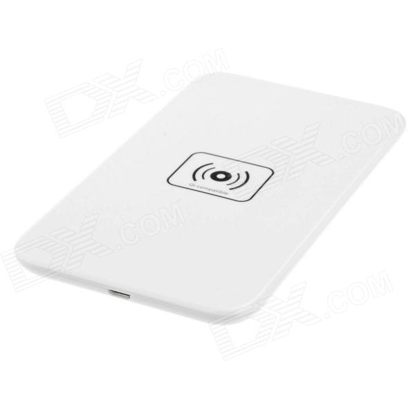 5 Qi Standard Mobile Wireless Power Charger EU Plug +i9300 Wireless Charger Receiver - White universal qi wireless charger for cellphone white