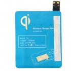 5 Qi Standard Mobile Wireless Power Charger EU Plug +i9500 Wireless Charger Receiver - White + Blue
