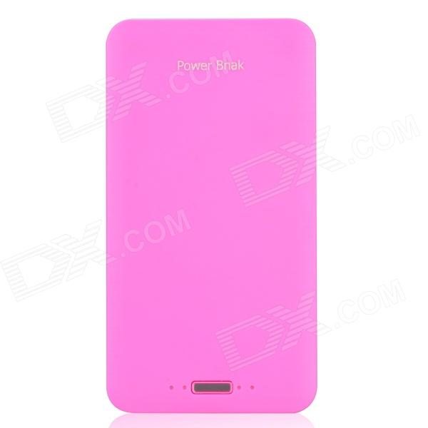 Ultra-thin 20000mAh External Battery Power Charger w/ LED Indicator / Flashlight - Fluorescence Red ultra thin 20000mah external battery power charger w led indicator flashlight fluorescence red