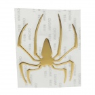 Creative Spider Pattern Car Decoration Sticker - Yellow