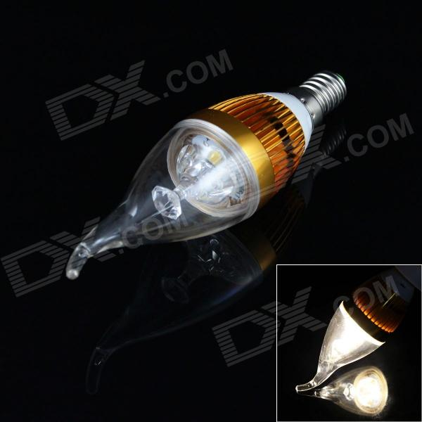 E14 3W 200LM 3000K 3 x LED Warm White Light Candle Tail Lamp (85~265V)