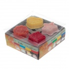 DZ-75 DIY Message Pie Crust Cutters Spring Press Type Cookies Mould (4 PCS)
