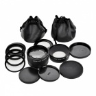 58mm 0.45X Wide Angle + 58mm 2.0X Telephoto Lens Filters with 4 Adapter Rings