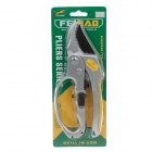 "Feibao F-882 8"" Stainless Steel Plant Branches Pruning Cutting Pliers Cutter - Silver+Yellow"