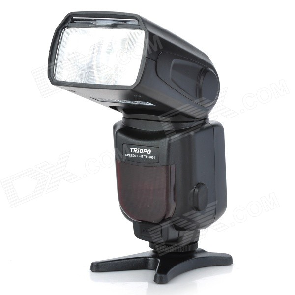 TRIOPO TR-960II Universal External Speedlight for Nikon / Canon / Pentax DSLR - Black