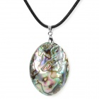 BKDZ001 Woman's Retro Stylish Shell Style Pendant Necklace - White + Purple