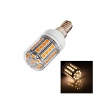 E14 6W 130lm 3000K 45 x SMD 5050 LED Warm White Light Lamp Bulb - White (AC 220~240V)