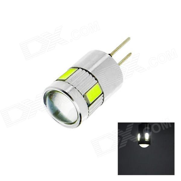 OOQ  G4 3W 6500K 160lm 6 x SMD 5730 LED  White Light Car Lamp (DC~12V)