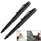 OUMILY Aircraft-Grade Aluminum 6061 T-6 Tactical Defense Writing Pen - Black (2 PCS)